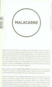 Malacarne - 4ème de couverture - Format classique