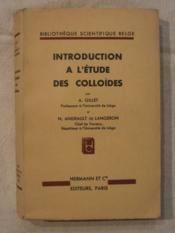Introduction à l'étude des colloïdes - Couverture - Format classique
