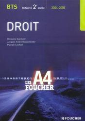 Droit Bts 2eme Annee Tertiaire - Intérieur - Format classique