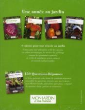 Une année au jardin ; coffret 5 titres - 4ème de couverture - Format classique