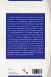 Eidolon T.93 ; Visites Littéraires De L'Inconscient Religieux Ou L'Appartenance A L'Oeuvre - 4ème de couverture - Format classique