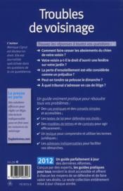 Troubles de voisinage ; quels sont vos droits ? (édition 2012) - 4ème de couverture - Format classique