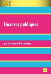 Finances publiques - Couverture - Format classique