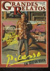 Grandes Relatos, Julio 1980, N°2, Picasso En Nueva Newyork - Couverture - Format classique