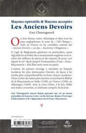 Les Anciens Devoirs - 4ème de couverture - Format classique