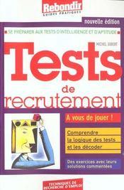 Tests De Recrutement 2001 - Intérieur - Format classique