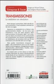 Transmission(s) ; la médiation en révolution - 4ème de couverture - Format classique