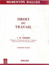 Droit du travail 5 ed edition - Couverture - Format classique