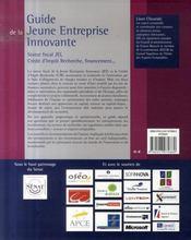Guide de la jeune entreprise innovante ; statut fiscal JEI, crédit d'impôt recherche, financement... (2e édition) - 4ème de couverture - Format classique