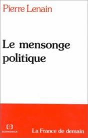 Le Mensonge politique - Couverture - Format classique
