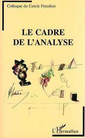 Le Cadre De L'Analyse - Intérieur - Format classique