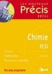 Chimie ; PCSI - Intérieur - Format classique