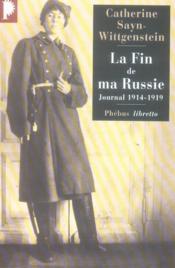 La fin de ma Russie - Couverture - Format classique