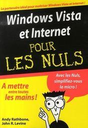 Windows vista et internet pour les nuls - Intérieur - Format classique
