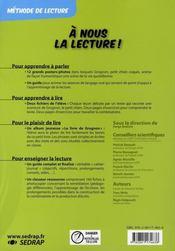 A Nous La Lecture ; Cp ; Le Fichier De L'Elève T.2 - 4ème de couverture - Format classique