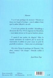 Revue Action Poetique N.169 - 4ème de couverture - Format classique