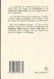 Les veritables pentacles et prieres - 4ème de couverture - Format classique