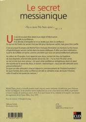 Le secret messianique - 4ème de couverture - Format classique