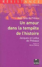 Un Amour Dans La Tempete De L'Histoire - Intérieur - Format classique