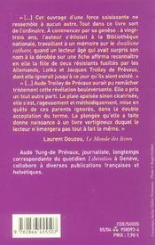 Un Amour Dans La Tempete De L'Histoire - 4ème de couverture - Format classique