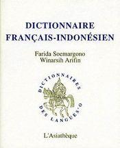 Dictionnaire français-indonésien - Couverture - Format classique