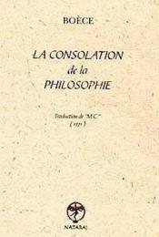 La consolation de la philosophie - Couverture - Format classique