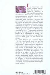 Manuel de mécanique des roches - 4ème de couverture - Format classique