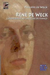 Rene de weck - Couverture - Format classique