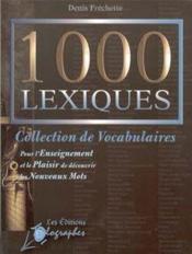 1000 lexiques - Couverture - Format classique