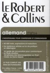 LE ROBERT & COLLINS ; MINI + ; français-allemand / allemand-français - 4ème de couverture - Format classique