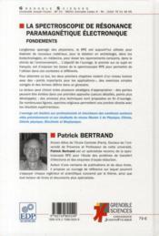 La spectroscopie de résonance paramagnétique électronique - 4ème de couverture - Format classique