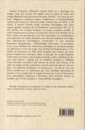 La corne et l'ivoire ; étude sur le récit de rêve dans la littérature romanesque des XII et XIII siècles - 4ème de couverture - Format classique