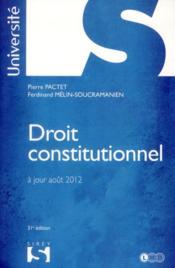 Droit constitutionnel (édition 2012) - Couverture - Format classique