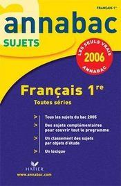 Annabac Sujets T.1 (édition 2006) - Intérieur - Format classique