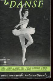 Revue Mensuelle Internationale - La Danse - N°4 - Novembre 1954 - Couverture - Format classique