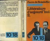 Litterature D'Aujourd'Hui 2 - Couverture - Format classique