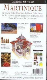 Guides Voir ; Martinique - 4ème de couverture - Format classique