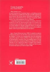 Corps et graphie - 4ème de couverture - Format classique