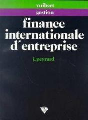 Finance Internationale D'Enterprise - Couverture - Format classique