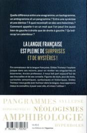 Le grand livre des curiosités de la langue française - 4ème de couverture - Format classique