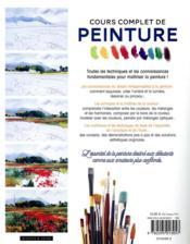Cours complet de peinture ; toutes les techniques et bases fondamentales pour débuter - 4ème de couverture - Format classique