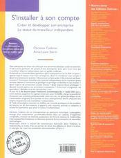 S'Installer A Son Compte - 4ème de couverture - Format classique