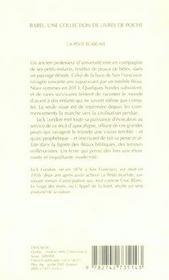 La peste écarlate - 4ème de couverture - Format classique