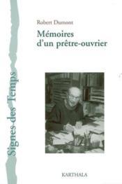 Mémoires d'un prêtre-ouvrier - Couverture - Format classique