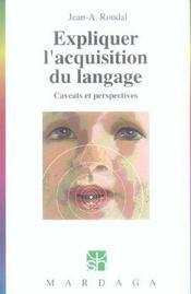 Expliquer L'Acquisition Du Langage N260 - Intérieur - Format classique