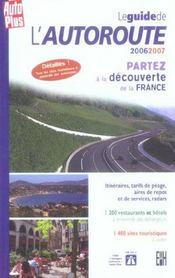 *Guide De L Autoroute 2006/2007 - Intérieur - Format classique