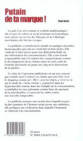 Putain Ta Marque ; Guide Anti-Pub - 4ème de couverture - Format classique