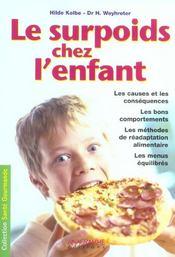 Le Surpoids Chez L'Enfant - Intérieur - Format classique