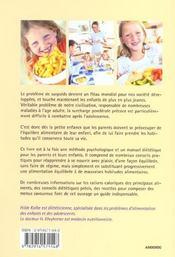 Le Surpoids Chez L'Enfant - 4ème de couverture - Format classique
