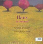 Hans Le Balourd - 4ème de couverture - Format classique